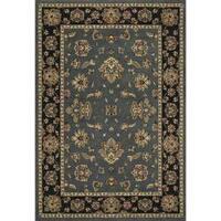 "Astoria Blue and Black Traditional Area Rug (10' x 12'7) - 10' x 12'7"""