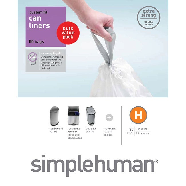 simplehuman Custom Fit 8-gallon Trash Can Liner