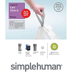 simplehuman Custom Fit 8-gallon Trash Can Liners (Pack of 50)