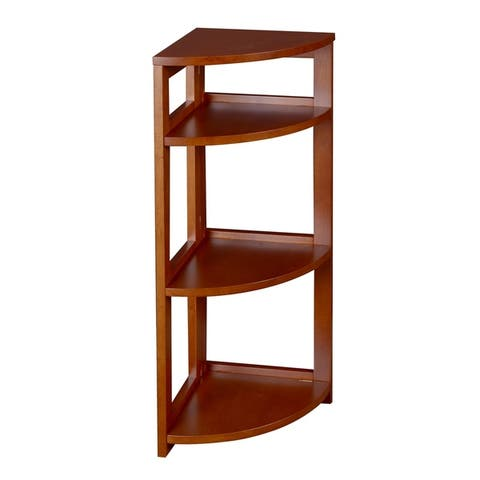 Porch & Den Gold Brook Flip Flop 34-inch Corner Folding Bookcase