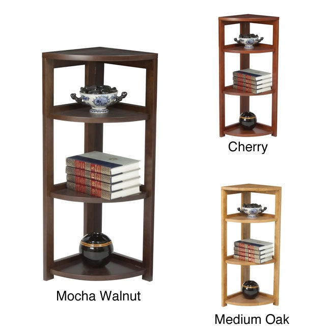 High Corner 34-inch Flip Flop Folding Bookcase