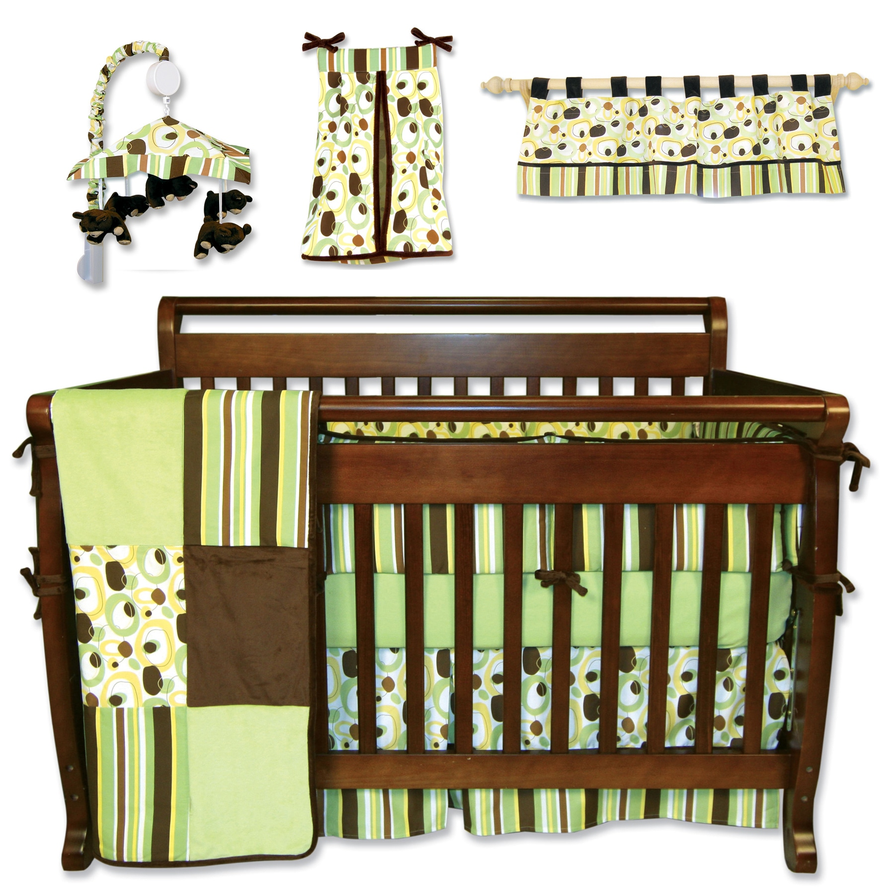 Trend Lab 7 Piece Giggles Crib Bedding Set Free Shipping