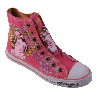 Ed Hardy Women's Highrise Graphic Print Slip-on Sneakers