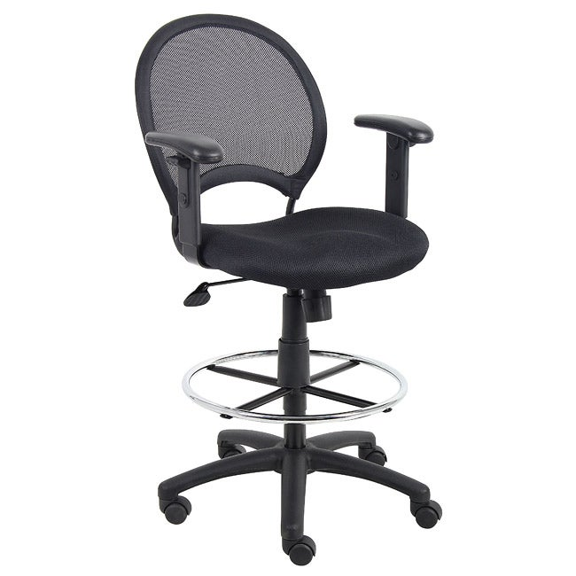 Boss Mesh Back Drafting Chair with Adjustable Arms Free Shipping
