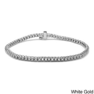 Auriya 14k Gold 1ct TDW Diamond Tennis Bracelet (I-J, I1-I2)