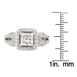 Montebello 14k White Gold 2 1/10ct TDW Engagement Ring (G-H, SI2)