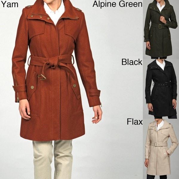 Kenneth Cole Women's Wool-blend Belted Coat FINAL SALE - Free ...
