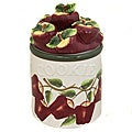 Country Apple Collection Hand-painted Cookie Jar