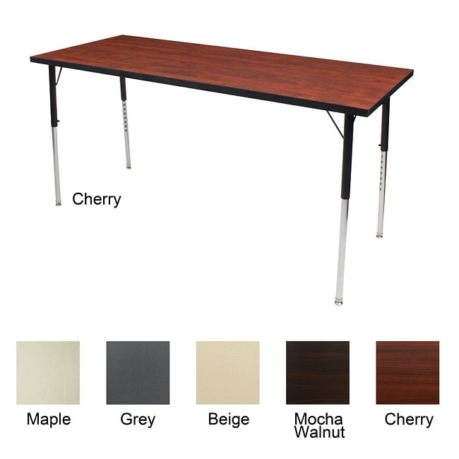 Adjustable leg 60 inch activity table free shipping for 10 inch table legs