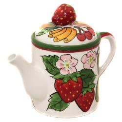 Fruit Medley Collection Hand-painted 5-piece Tea Set - Thumbnail 1