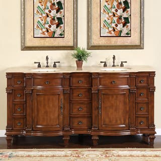 72 in vanity double sink. Silkroad Exclusive Travertine Stone Top Bathroom Double Vanity Lavatory Sink  Cabinet 72 inch Over 70 Inches Vanities Cabinets For Less