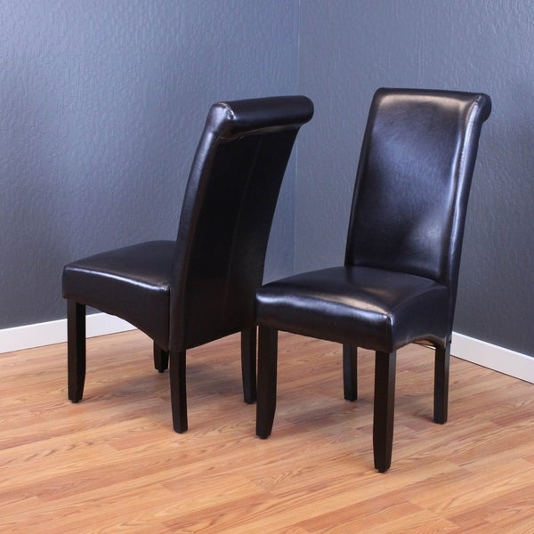 Shop Monsoon Milan Black Faux-leather Dining Chairs (Set