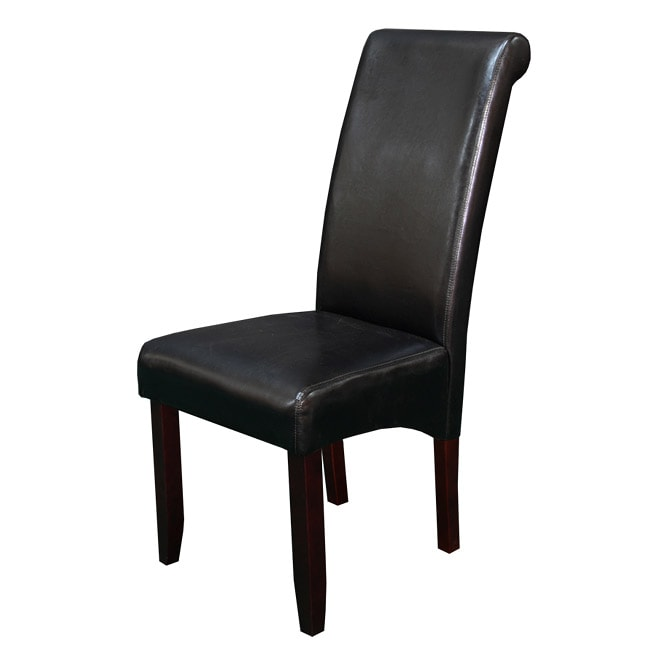 Black Leather Kitchen Chairs: Milan Faux Leather Black Dining Chairs (Set Of 2)