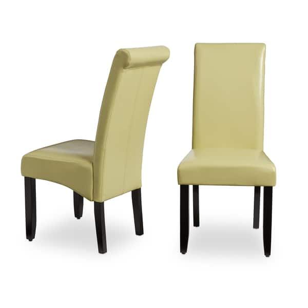 Terrific Shop Milan Faux Leather Dining Chairs Set Of 2 Free Creativecarmelina Interior Chair Design Creativecarmelinacom