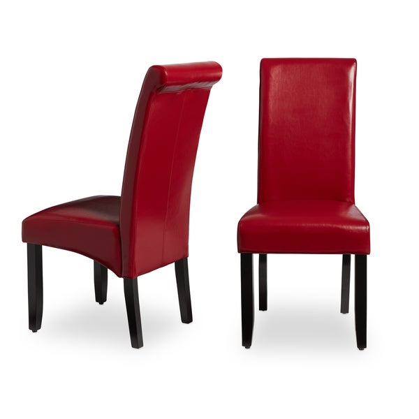 Milan Faux Leather Dining Chairs (Set Of 2)