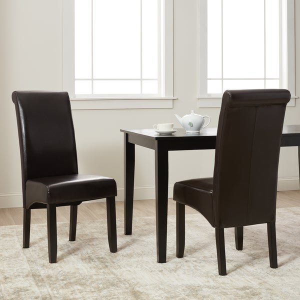 Shop Milan Faux Leather Dining Chairs (Set Of 2)