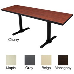 "Regency Rectangle Wooden Training Table with Metal T-legs (60"" x 24"")"