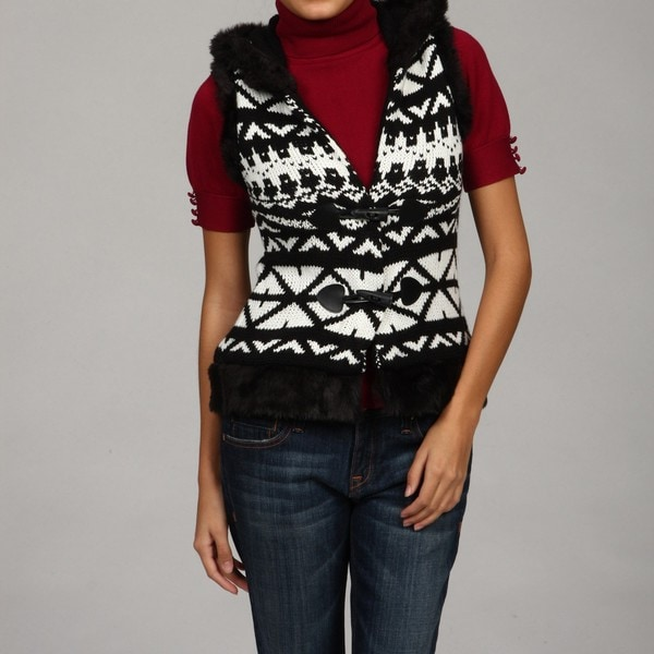 Jessica Simpson Juniors's Faux-fur Vest