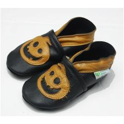 Jack-O-Lantern Soft Sole Leather Baby Shoes