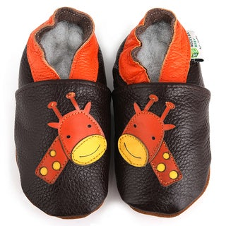 Giraffe Soft Sole Leather Baby Shoes