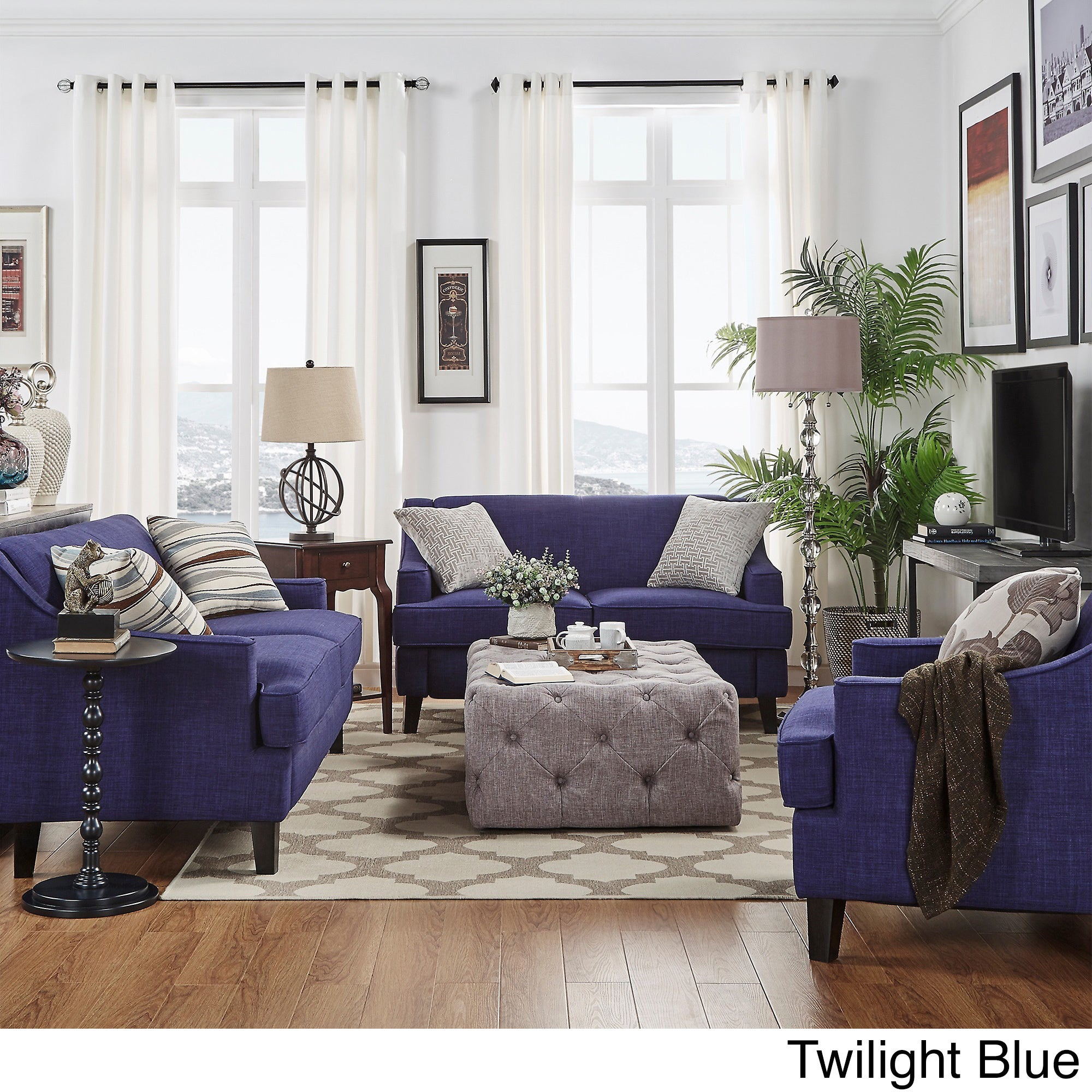 Marvelous Winslow Concave Arm Modern 3 Piece Living Room Set By INSPIRE Q Bold (2