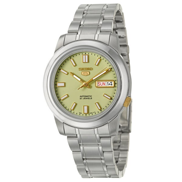 Seiko 5 Men's Lumbrite Dial Stainless Steel Watch