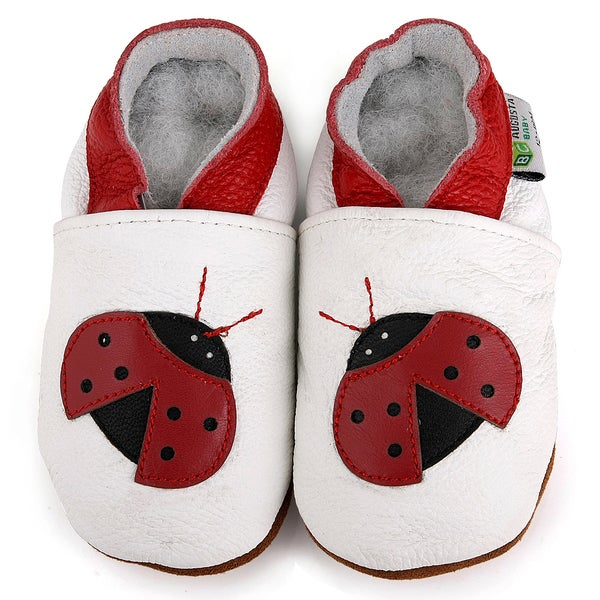 Ladybug Soft Sole Leather Baby Shoes