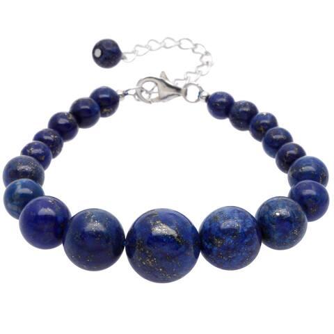 Pearlz Ocean Sterling Silver Lapis Lazuli Journey Bracelet Jewelry for Womens