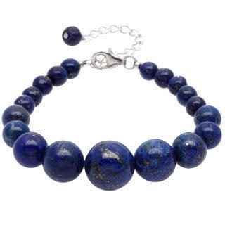 Pearlz Ocean Sterling Silver Lapis Lazuli Journey Bracelet