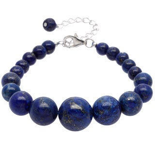 Pearlz Ocean Sterling Silver Lapis Lazuli Journey Bracelet Jewelry for Womens