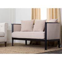 Abbyson Morgan Solid Hardwood Loveseat