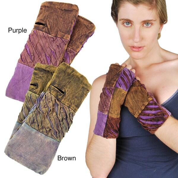Cotton Fleece-Lined Razor Cut Cotton Arm Warmer (Nepal)