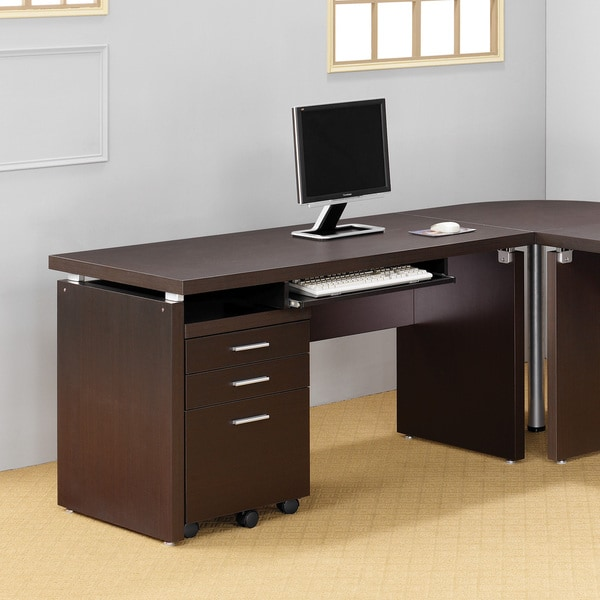 Cappuccino Computer Desk with Keyboard Tray - Free Shipping Today