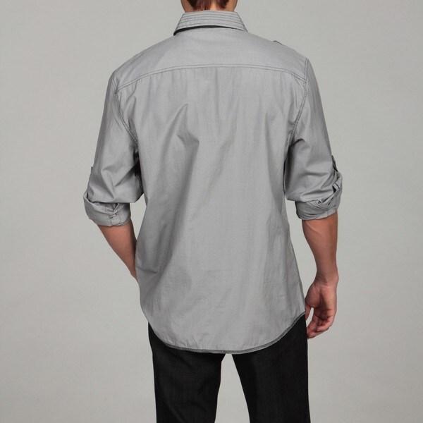 eda6e68ae Shop Sovereign Code Men's Grey Shirt with Black Tie - Free Shipping ...