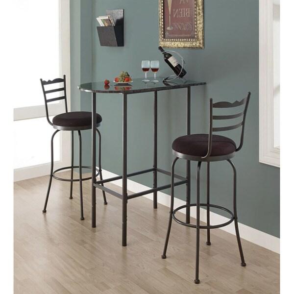 Grey marble charcoal metal 24x36 spacesaver bar table free grey marble charcoal metal 24x36 spacesaver bar table watchthetrailerfo