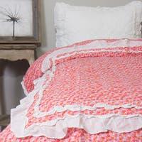 Addie Floral Pink Quilt Set