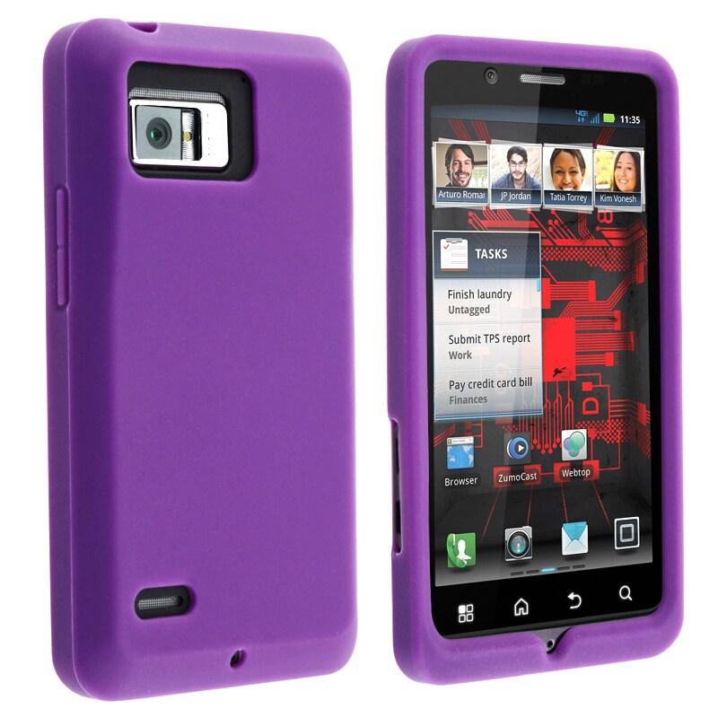Purple Silicone Skin Case for Motorola Droid Bionic XT875