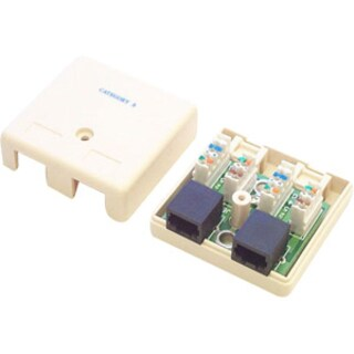 StarTech.com Dual Cat 5e RJ45 Wall Jack Ivory with Keystone Jacks