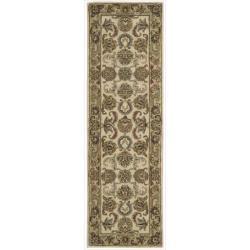 Nourison Hand-tufted Caspian Ivory Gold Wool Rug (2'3 x 7'6)