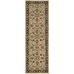 Nourison Hand-tufted Caspian Taupe Wool Rug (2'3 x 7'6)