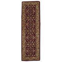 Nourison Hand-tufted Caspian Burgundy Wool Rug - 2'3 x 7'6
