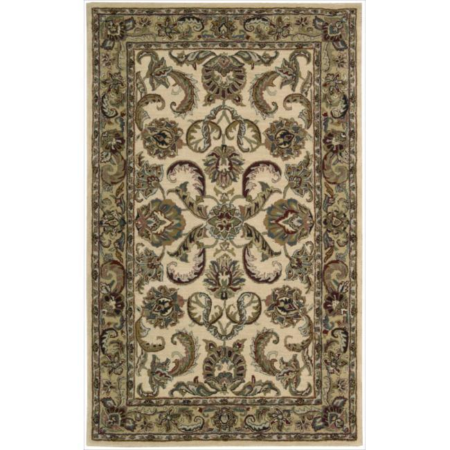 Nourison Hand-tufted Caspian Ivory Gold Wool Rug (2'6 x 4')