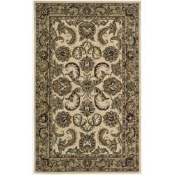 "Nourison Hand-tufted Caspian Ivory Gold Wool Rug - 2'6"" x 4' - Thumbnail 0"