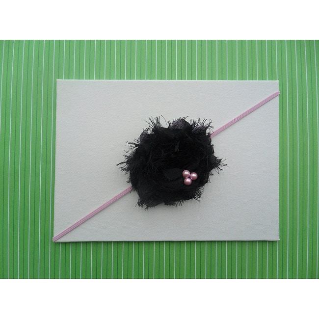 Itty Bitty Shabby Pearl Flower Headband
