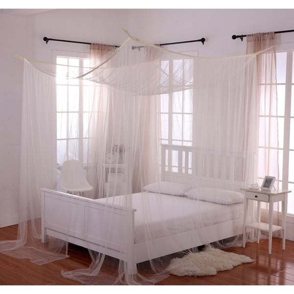 Four Post Bed With Canopy palace four-poster bed canopy - free shipping today - overstock