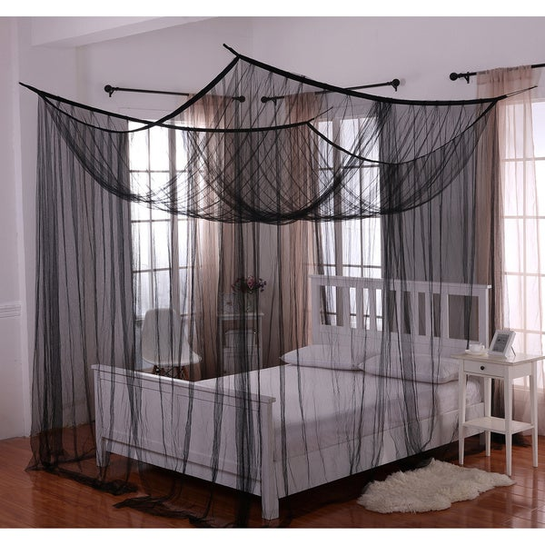 Palace Four-poster Bed Canopy - Free Shipping Today - Overstock.com -  13936018