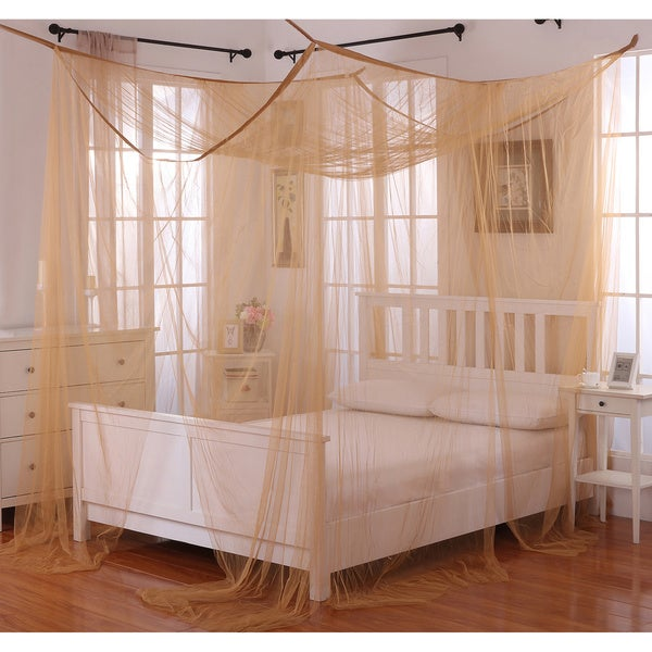 Poster Bed Canopy palace four-poster bed canopy - free shipping today - overstock
