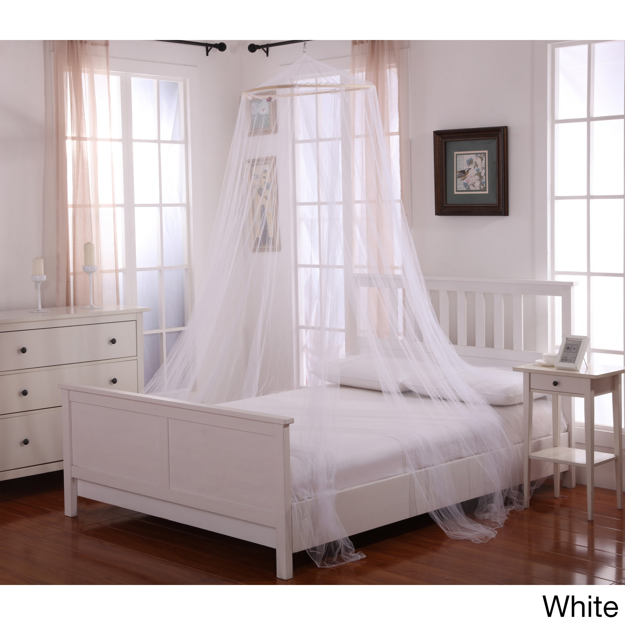- Shop Oasis Sheer Moqsuito Net Round Hoop Bed Canopy - On Sale