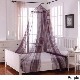 Oasis Round Hoop Bed Canopy (Option: Purple)
