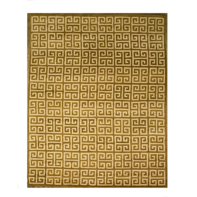 Hand-tufted Brown Wool Area Rug (7'9 x 9'9) - 7'9 x 9'9